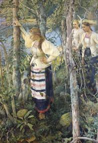 Pekka Halonen, Neiet niemien nenissä