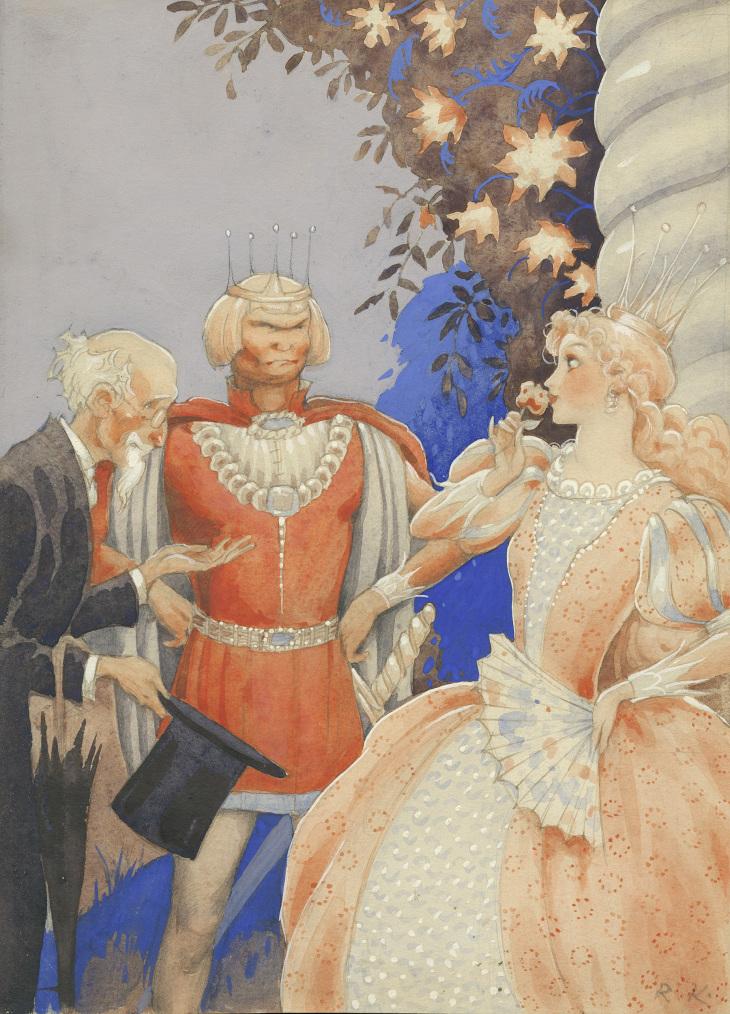 Rudolf Koivu, Prinsessa Ruusunen -satukuvitus, Amerin Kulttuurisäätiö